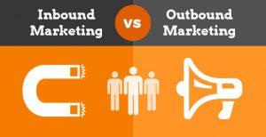 cuadro gráfico explicativo de outbound y de inbound marketing